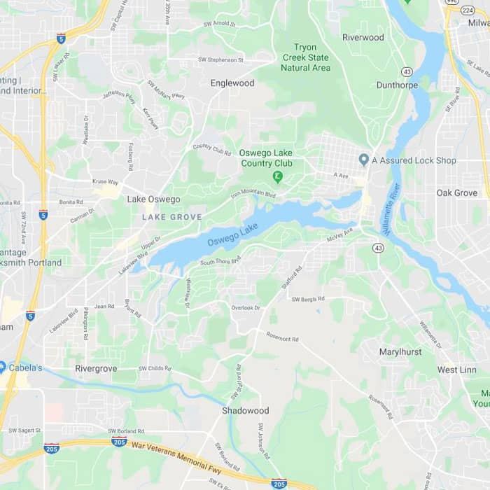 Locksmith Lake Oswego map