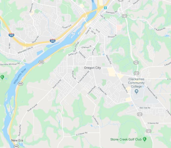 Locksmith Oregon City map