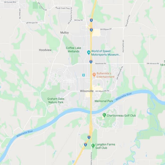 Locksmith Wilsonville map