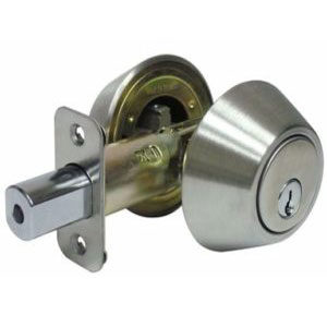 Locksmith Portland securing your home with double sided deadbolt